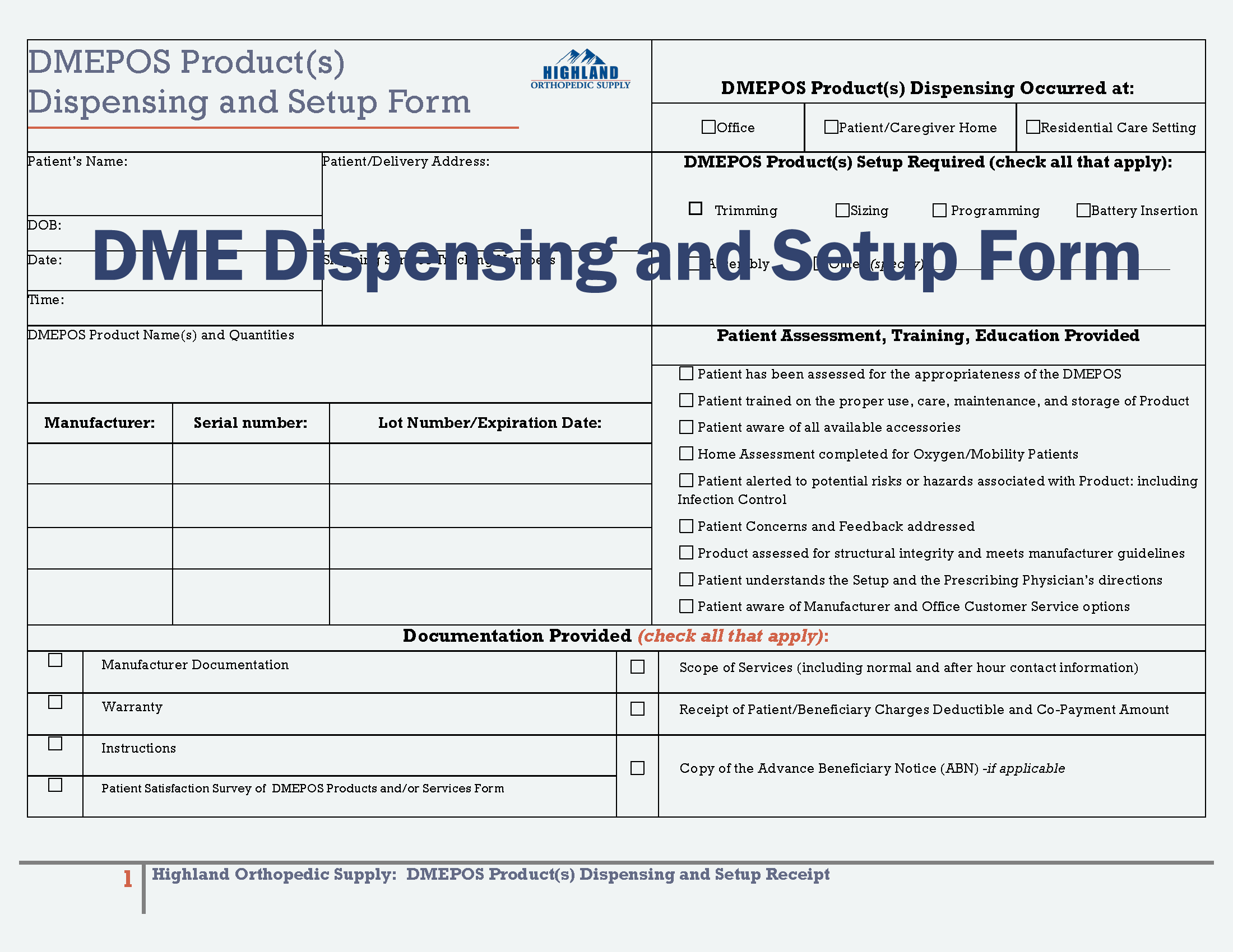 DME POD NEW FORM 08012014 DME form HOS fillable_Page_1