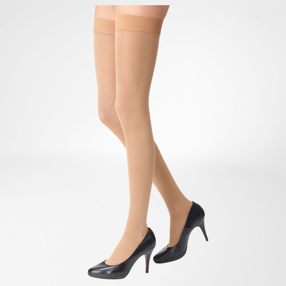 94d6fa5931 Bauerfeind Venotrain Thigh High Compression Stockings, 30mm-40mm ...